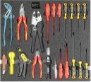 Refrigeration tool set 1, VDE basic set (20 parts) inlay size 500x450mm